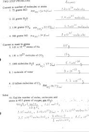 chemistry mole problems worksheet worksheets