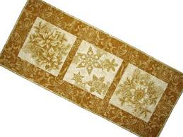 gold christmas table runner gold christmas quilted table runner elegant holiday table mat
