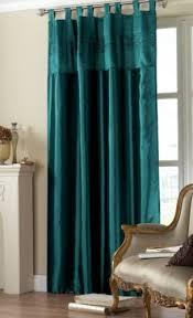 Teal Taffeta Curtains 2 Teal Taffeta Embroidered Sequins Tab Top Curtains 57x 90 Home