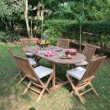 m chaises salon de jardin en teck ecograde manille table extensible 1 2 à 1
