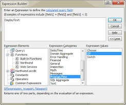 Count Characters In Access The Expression Builder To Build If Then Statements In