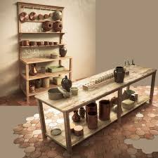 3d vintage kitchen table and shelf set cgtrader