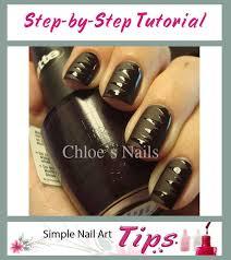 black shredded nail art manicure tutorial simple nail art tips