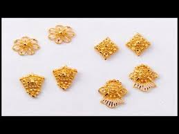gold earrings tops dailywear gold ear tops ear studs designs daily wear earrings