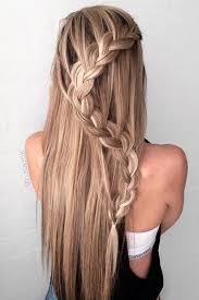homecoming hair braids instructions braided hair styles 2017 waterfall braid half up half down