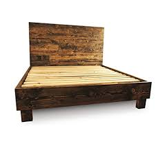 farmhouse bed frame and headboard set reclaimed style rustic