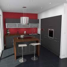 cuisine avec snack bar cuisine classique couleur argile implantation en u plan de travail