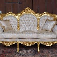canapé style baroque canapé 3 places style baroque louis xv pour palais doré à la feuille