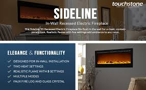 Sales On Electric Fireplaces by Amazon Com Touchstone Sideline Recessed Mounted Electric