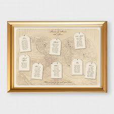 themed luggage tags antique chic world map wedding seating chart with luggage tags