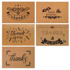 blessing cards 10 pcs retro kraft paper thanks card birthday small card printing