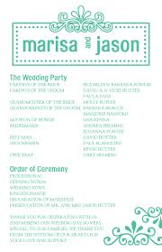 exles of wedding program wording one page wedding program template 28 images 8 best images of