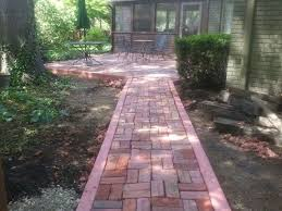 Dyed Concrete Patio by Brick Patio Design Install With Dyed Concrete Edging And Border