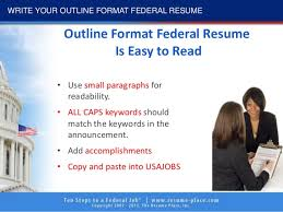 Federal Job Resumes by 10 Steps To Federal Job 2017