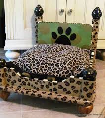 Dog Bed With Canopy Dog Bed From An End Table Leopard Print Lucy Designs