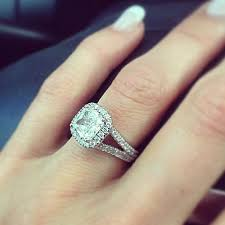 cushion cut split shank engagement rings cushion cut wedding ring mindyourbiz us