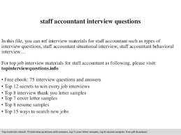 Staff Accountant Sample Resume by Staff Accountant Interview Questions