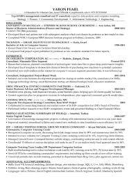 Resume For Board Of Directors Yaron Pearl Resume