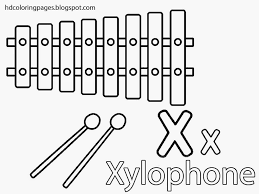 xylophone coloring page free download
