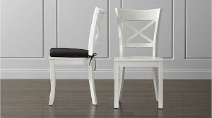 Crate Barrel Chairs Dining Room Best Stylish White Wood Chairs Regarding Household