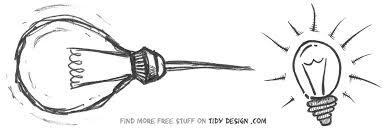 free light bulb sketch tidy design blog