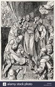 ivanhoe picture of a scene from the book by sir walter scott of