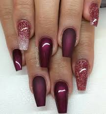 5 spell binding maroon acrylic nails for 2017 u2013 naildesigncode