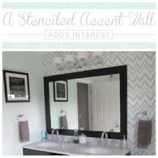 Accent Wall In Bathroom Stenciled Bathroom Accent Wall Stencil Stories