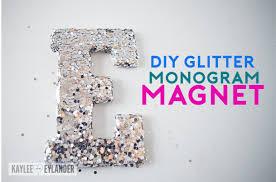 Monogram Glitter Magnet