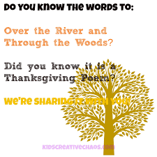 the river and through the woods poem for thanksgiving