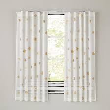 White Polka Dot Sheer Curtains Gold Confetti Curtain Panels In New Curtains The Land Of Nod