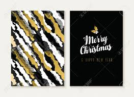 merry christmas and happy new year card template set with retro