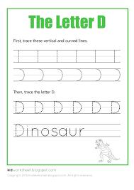 free worksheet tracing letter d worksheets for kids