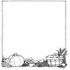 Thanksgiving Borders Clip Black And White Thanksgiving Border Fieldstation Co