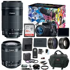 amazon com canon eos rebel t6i dslr video creator kit with 18