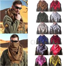 arab wrap mens keffiyeh shemagh army tactical arab desert scarf