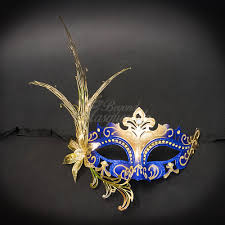gold masquerade mask masquerade mask princess crown gold blue m7041 beyondmasquerade