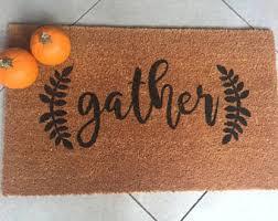 thanksgiving doormat gather doormat etsy
