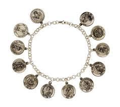 st jude bracelet sterling silver 12 medal 7 1 2 rolo link bracelet page 1