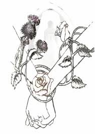 save the date cards and scottish thistle entwined