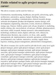 Project Manager Sample Resumes by Top 8 Agile Project Manager Resume Samples