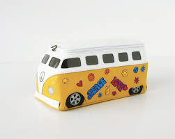 hippie van drawing hippie volkswagen bag flower design vw transporter bus purse