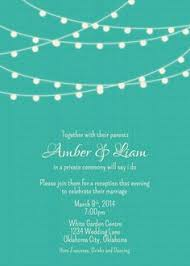 wedding reception invitation wording after ceremony for ceremonies the reception only invite wedding
