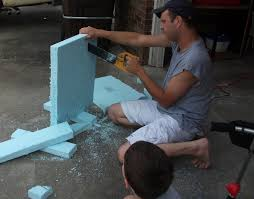 make your own halloween tombstone thrifty crafty 31 days of halloween diy gravestones