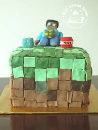 nasi lemak lover he is 8 years old now a minecraft fondant cake