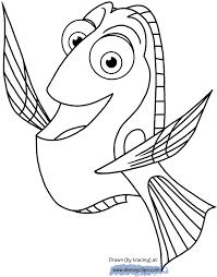 finding dory printable coloring pages disney coloring book