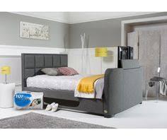 Ottoman Tv Bed Evolution Slate Grey Fabric Lg Led Tv Ottoman Bed Frame Tv Beds