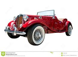 Vintage Sport Retro Convertible Car Isolated Stock Photo Image