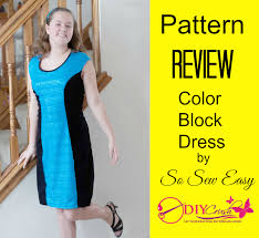 pattern review so sew easy color block dress sewing pattern