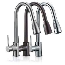 Kitchen Sink Faucets Amazon Com by Freuer Drammatico Collection Pull Out Spray Kitchen Sink Faucet